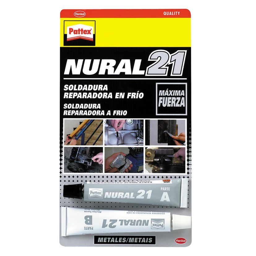 PATTEX NURAL 21 SOLDADURA METALICA 22ml.