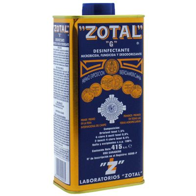 ZOTAL DESINFECTANTE 415ml.
